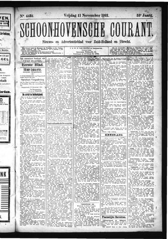 Schoonhovensche Courant 1921-11-11