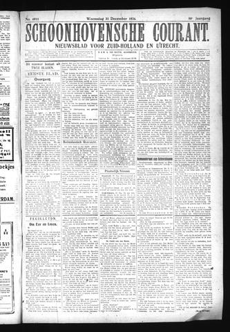 Schoonhovensche Courant 1924-12-31