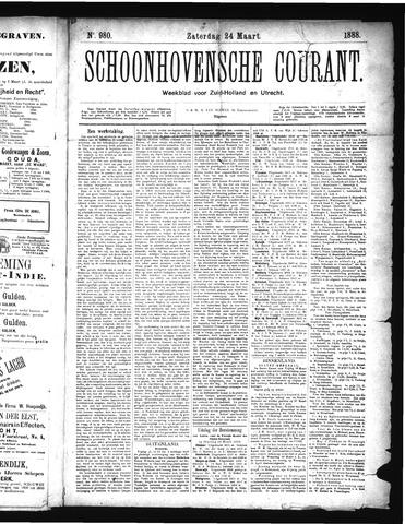 Schoonhovensche Courant 1888-03-24