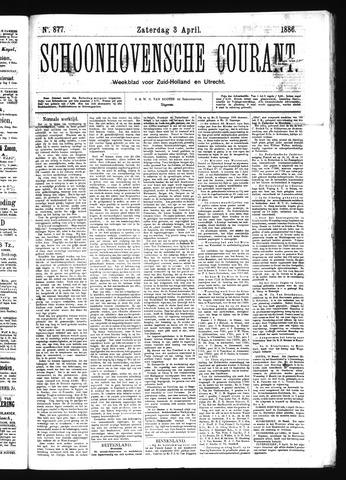 Schoonhovensche Courant 1886-04-03