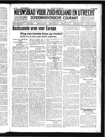 Schoonhovensche Courant 1939-10-23