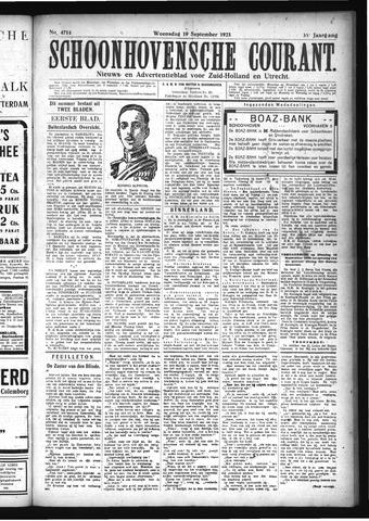 Schoonhovensche Courant 1923-09-19