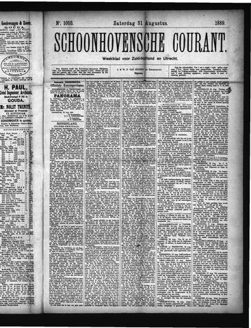 Schoonhovensche Courant 1889-08-31