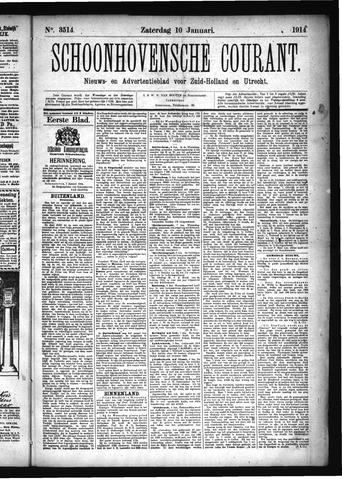 Schoonhovensche Courant 1914-01-10