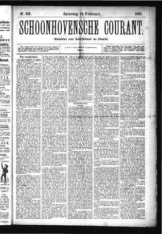 Schoonhovensche Courant 1885-02-14