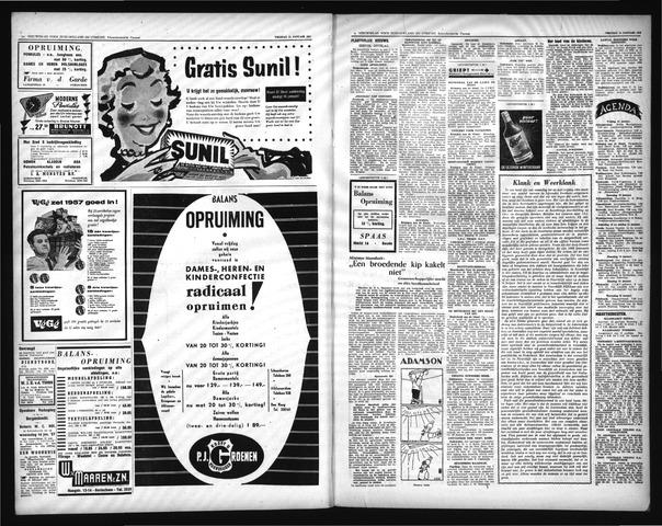 Schoonhovensche Courant 1957-01-15