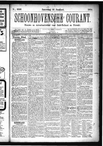 Schoonhovensche Courant 1914-01-31