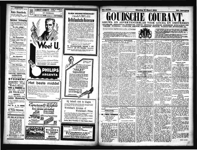Goudsche Courant 1925-03-10