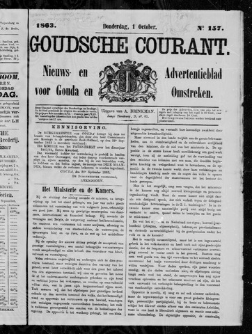 Goudsche Courant 1863-10-01