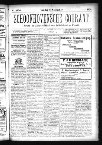 Schoonhovensche Courant 1918-11-08