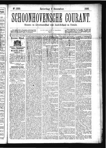 Schoonhovensche Courant 1892-12-03