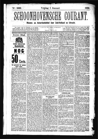 Schoonhovensche Courant 1909-01-01