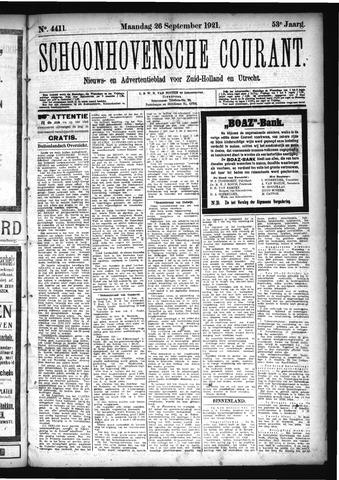 Schoonhovensche Courant 1921-09-26