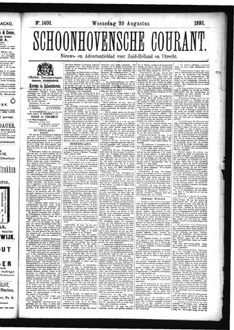 Schoonhovensche Courant 1893-08-30