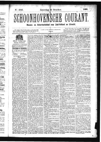 Schoonhovensche Courant 1896-10-31