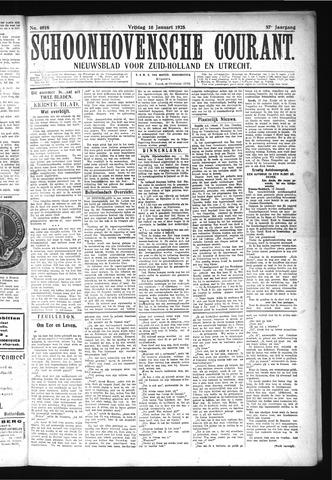 Schoonhovensche Courant 1925-01-16