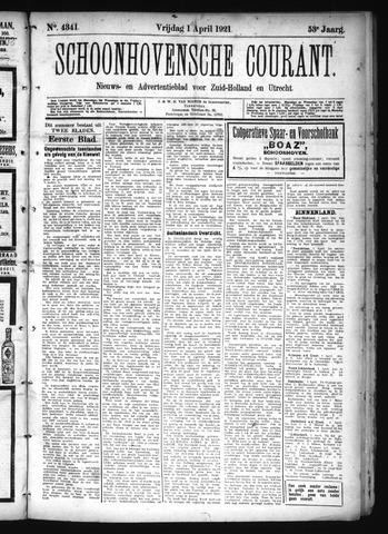 Schoonhovensche Courant 1921-04-01