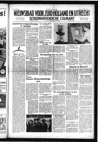 Schoonhovensche Courant 1952-10-01