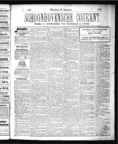 Schoonhovensche Courant 1919-01-28