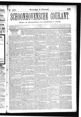 Schoonhovensche Courant 1920-02-11