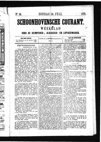 Schoonhovensche Courant 1870-07-24