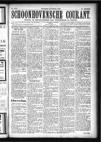 Schoonhovensche Courant 1923-10-10