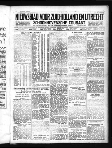 Schoonhovensche Courant 1939-04-03
