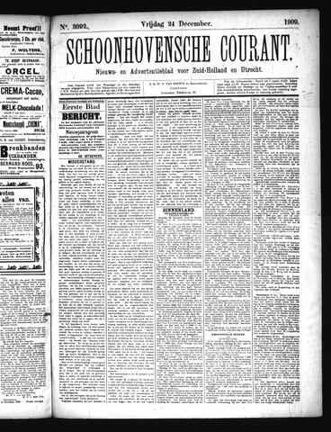 Schoonhovensche Courant 1909-12-24