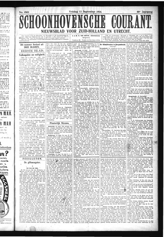 Schoonhovensche Courant 1924-09-12