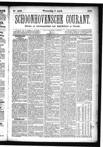 Schoonhovensche Courant 1913-04-02