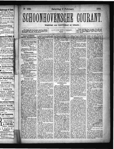 Schoonhovensche Courant 1889-02-02