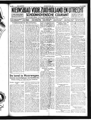 Schoonhovensche Courant 1940-04-29