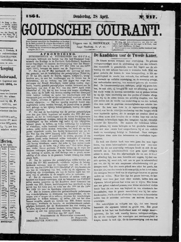 Goudsche Courant 1864-04-28
