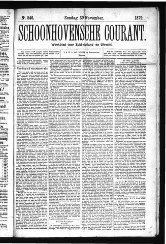 Schoonhovensche Courant 1879-11-30