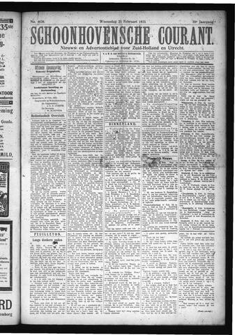Schoonhovensche Courant 1923-02-21