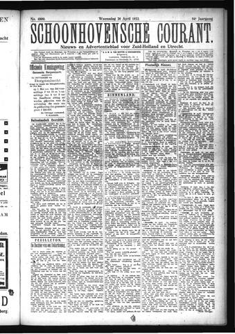 Schoonhovensche Courant 1922-04-26