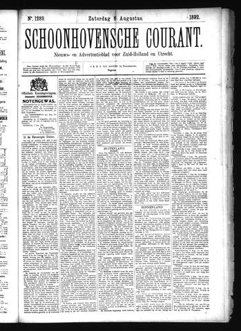 Schoonhovensche Courant 1892-08-06