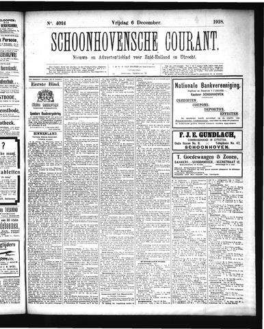Schoonhovensche Courant 1918-12-06