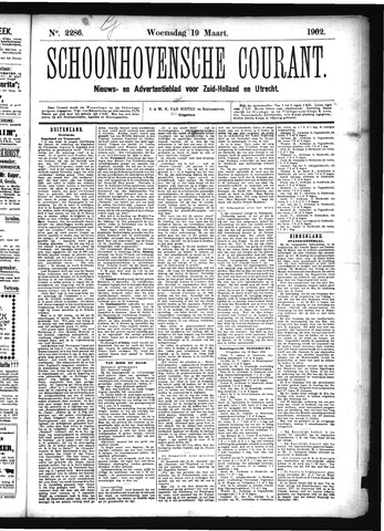 Schoonhovensche Courant 1902-03-19
