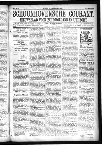 Schoonhovensche Courant 1926-09-10