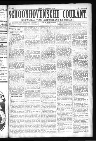 Schoonhovensche Courant 1924-11-21