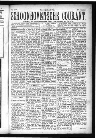 Schoonhovensche Courant 1922-07-31