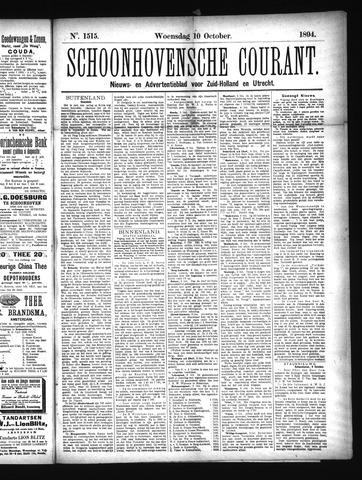 Schoonhovensche Courant 1894-10-10
