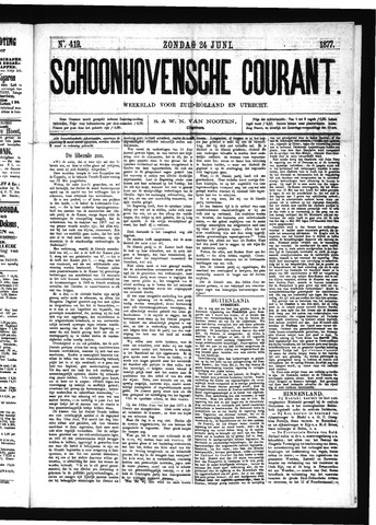 Schoonhovensche Courant 1877-06-24
