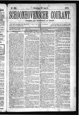Schoonhovensche Courant 1879-04-20