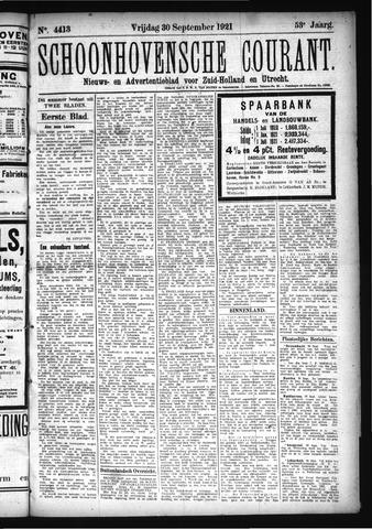 Schoonhovensche Courant 1921-09-30