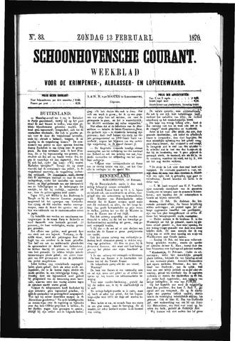 Schoonhovensche Courant 1870-02-13
