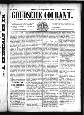 Goudsche Courant 1903-09-29
