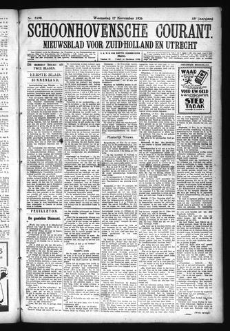 Schoonhovensche Courant 1926-11-17