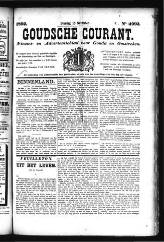 Goudsche Courant 1892-11-15